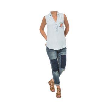 Camisas Sleeveless Denim Shi (261) Bleach Wash