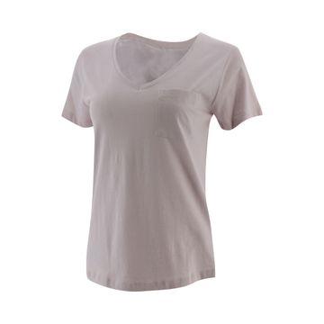Camisetas V Neck Pocket Tee Lilac Marble