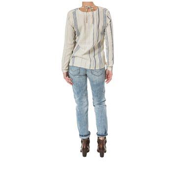 Camisas Peasant Stripe L/S S Oatmeal / Detroit